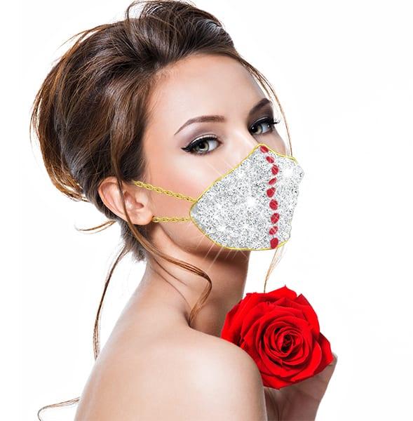 Diamond mask with woman thumbnail